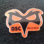 Orange Pin Badge
